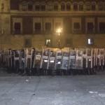Policías toman la plancha del Zócalo