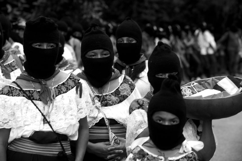 Marichuy Patricio, the spokewoman of the Indigenous Governing Council, stages a rally in the main square of Palenque in the southern state of Chiapas, October 18, 2017. Marichuy started a trip in Chiapas where the Zapatista rebels claim to defeat the political system in Mexico and to govern the country by a Indigenous Council. Photo by Heriberto Rodriguez