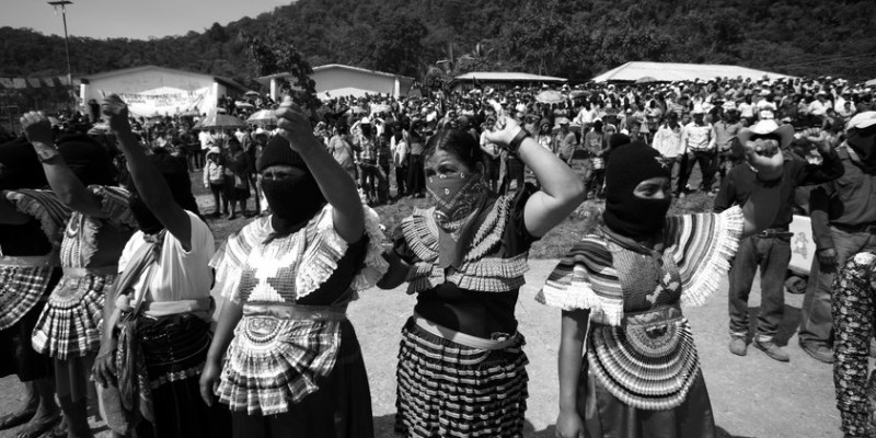 The Indigenous Governing Council and its spokewoman Marichuy Patricio González are hosted by the Zapatista rebels at the Zapatista stronghold of Guadalupe Tepeyac in the southern state of Chiapas, October 14, 2017. Marichuy Patricio is the candidate for Presidency of Mexico and supported by the National Indigenous Congress (CNI). Photo by Heriberto Rodriguez