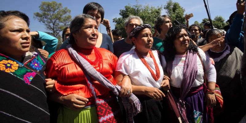 Maria de Jesus Patricio Gonzalez registered at the National Electoral Institute (INE) to run as candidate for presidency of Mexico, October 7, 2017 in Mexico City. Patricio Gonzalez is the spokewoman of the Indigenous Governing Council and supported by the National Liberation Zapatista Army (EZLN). Photo by Heriberto Rodriguez