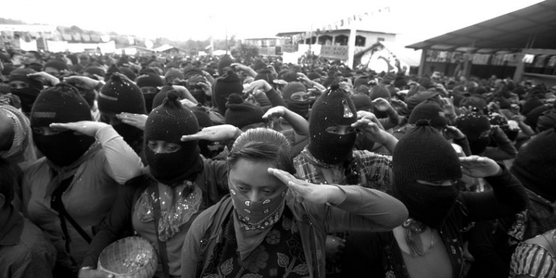Marichuy Patricio Martinez, the spokewoman of the Indigenous Governing Council arrives at the Zapatista stronghold of Caracol La Garrucha in southern state of Chiapas, October 16, 2017. Marichuy Patricio started her campaign to collect almost one miilion signs to run for the Presidency of Mexico. Photo by Heriberto RodriguezHR