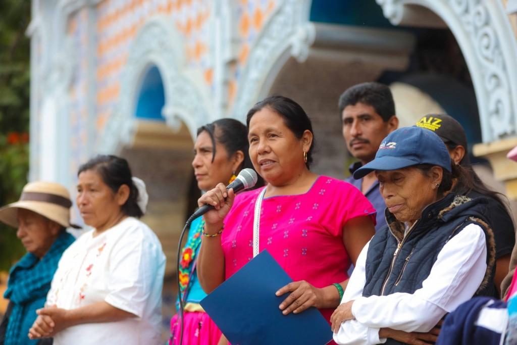 Marichuy toma el micrófono Tehuacán_ Daliri Oropeza